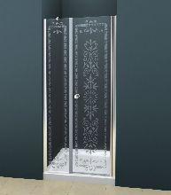 Душевая дверь Cezares ROYAL PALACE-B-11-100+90-CP-Cr стекло прозрачное с узором, профиль хром