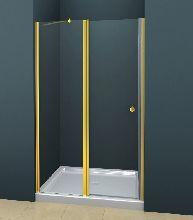 Душевая дверь Cezares ROYAL PALACE-B-12-60/40-C-G стекло прозрачное, профиль золото