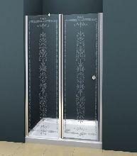 Душевая дверь Cezares ROYAL PALACE-B-12-60/30-CP-Cr стекло прозрачное с узором, профиль хром