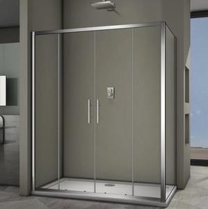 Душевой угол Veconi RV-062 140x80x190 стекло прозрачное профиль хром (RV062-14080PR-01-19C3)