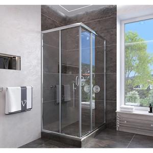 Душевой угол Veconi RV-113 90x90x185 стекло прозрачное профиль хром (RV113-90-01-C4)