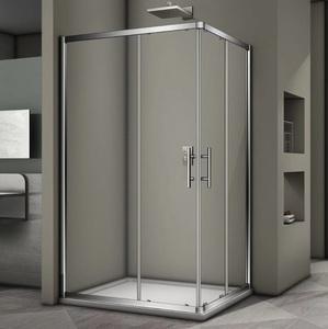 Душевой угол Veconi RV-30 100x80x190 стекло прозрачное профиль хром (RV30-10080PR-01-19C3)