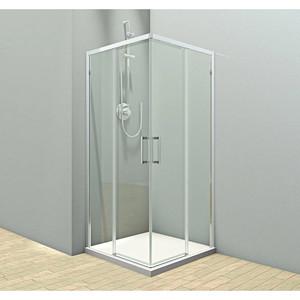 Душевой угол Veconi RV-47 90x90x195 стекло прозрачное профиль хром (RV47-90-01-C4)