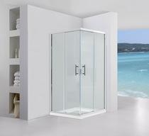 Душевой уголок Black&White S102 100x100x195 стекло прозрачное профиль хром