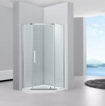 Душевой уголок Black&White S305 90x90x195 стекло прозрачное профиль хром