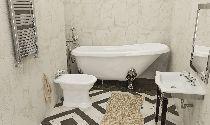 Мраморная ванна Esse Santorini 171х78