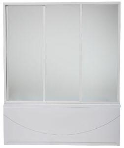 Шторка для ванн BAS Ахин/Атланта/Мальта/Нептун/Индика  (3ств) пластик