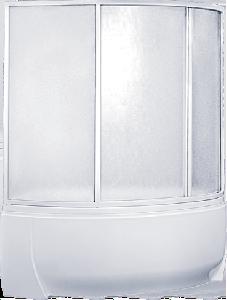 Шторка для ванн BAS Фэнтази (4ств) пластик