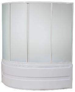 Шторка для ванны Bas Сагра 1600х1000 (пластик)