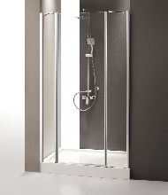 Душевая дверь Cezares TRIUMPH-B-13-100+60/40-C-Cr-L стекло прозрачное, профиль хром