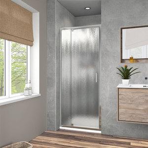 Душевая дверь Vincea VDP-1I 90x190 стекло шиншилла профиль хром (VDP-1I9010CH)