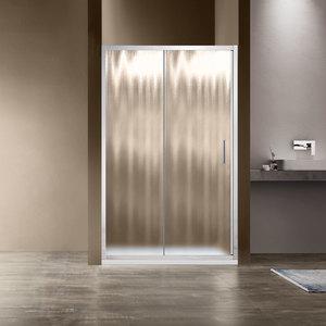 Душевая дверь Vincea VDS-1G 140x190 стекло шиншилла профиль хром (VDS-1G140CH)