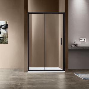 Душевая дверь Vincea VDS-1G 140x190 стекло прозрачное профиль черный (VDS-1G140CLB)