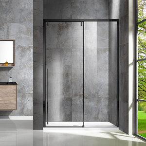 Душевая дверь Vincea VDS-1L 120x195 стекло прозрачное профиль черный (VDS-1L120CLB-1)