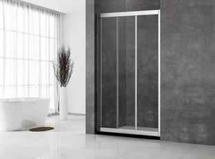 Душевая дверь Veconi VN-31 130x195 стекло прозрачное профиль хром (VN31-130-01-C5)