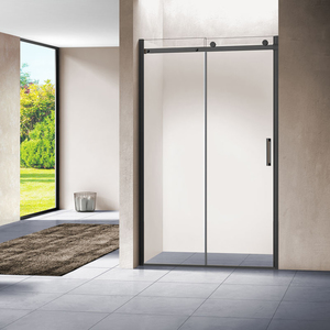 Душевая дверь Vincea VPS-1C 120x195 стекло прозрачное профиль черный (VPS-1C120CLB)