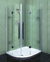 Душевой уголок Wasserfalle F-2004 120x90x190 профиль хром стекло прозрачное