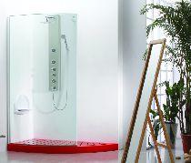 Душевой уголок Wasserfalle W-457 150x80x205 профиль хром стекло прозрачное