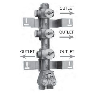 Скрытая часть для термостата Bossini 4 OUTLETS Z030271000