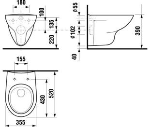 ...2137.0.000 000 Тип унитаза - подвесной Метод установки сливного бачка - в стену Требуется система инсталляции...
