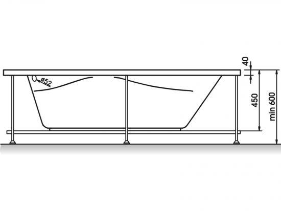 Ванна акрил Liliya 175х90 без г/мАкриловая ванна RELISAN Liliya выполнена из высококачественного санитарного...